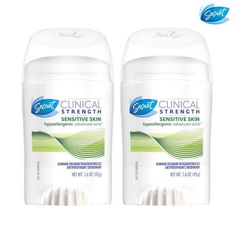 3-Pack: Secret Clinical Strength Solid Antiperspirant & Deodorants at 53% Savings off Retail!