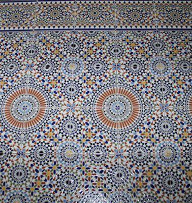 M² Keramikfliesen Samara Fliesenspiegel Wandfliesen - Mosaik fliesen marokko