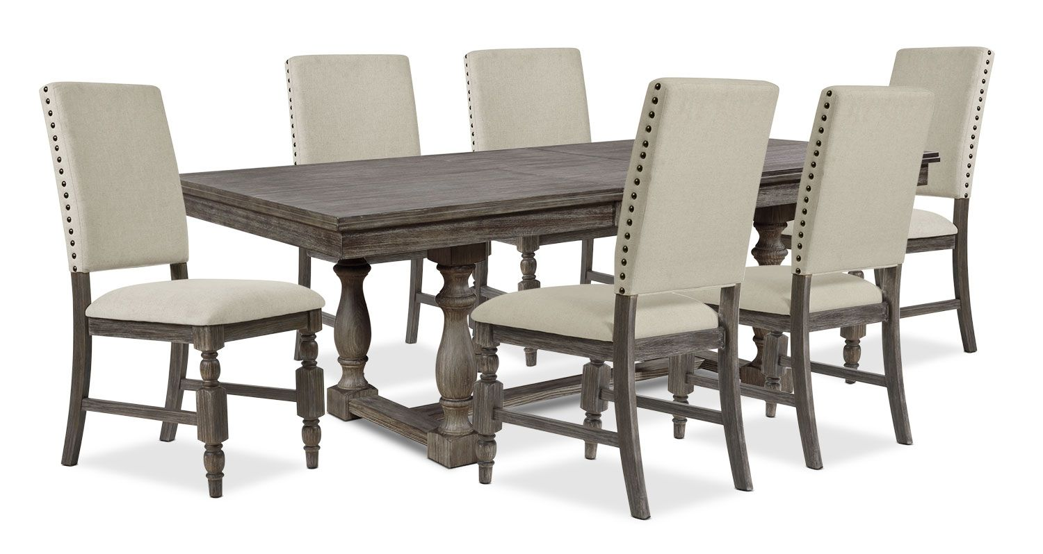Bring The Majesty Of The Mountains To Your Dining Room With This Aspen Seven Piece Dining Set A Smo Dining Room Sets Buy Dining Room Set Solid Wood Dining Set