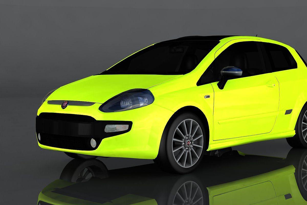 2010 Fiat Punto Evo Sport Fiat Evo Low Poly 3d Models
