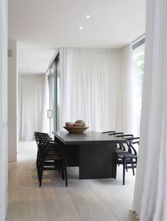 dining interiors curtains drapes pinterest rideau baie vitr e baies vitr es et baie. Black Bedroom Furniture Sets. Home Design Ideas