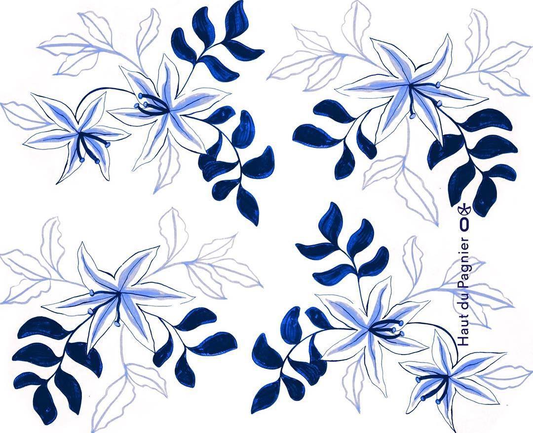 Fleur De Lys Fleur Pattern Flower Pattern Blue Fleurs Fleur
