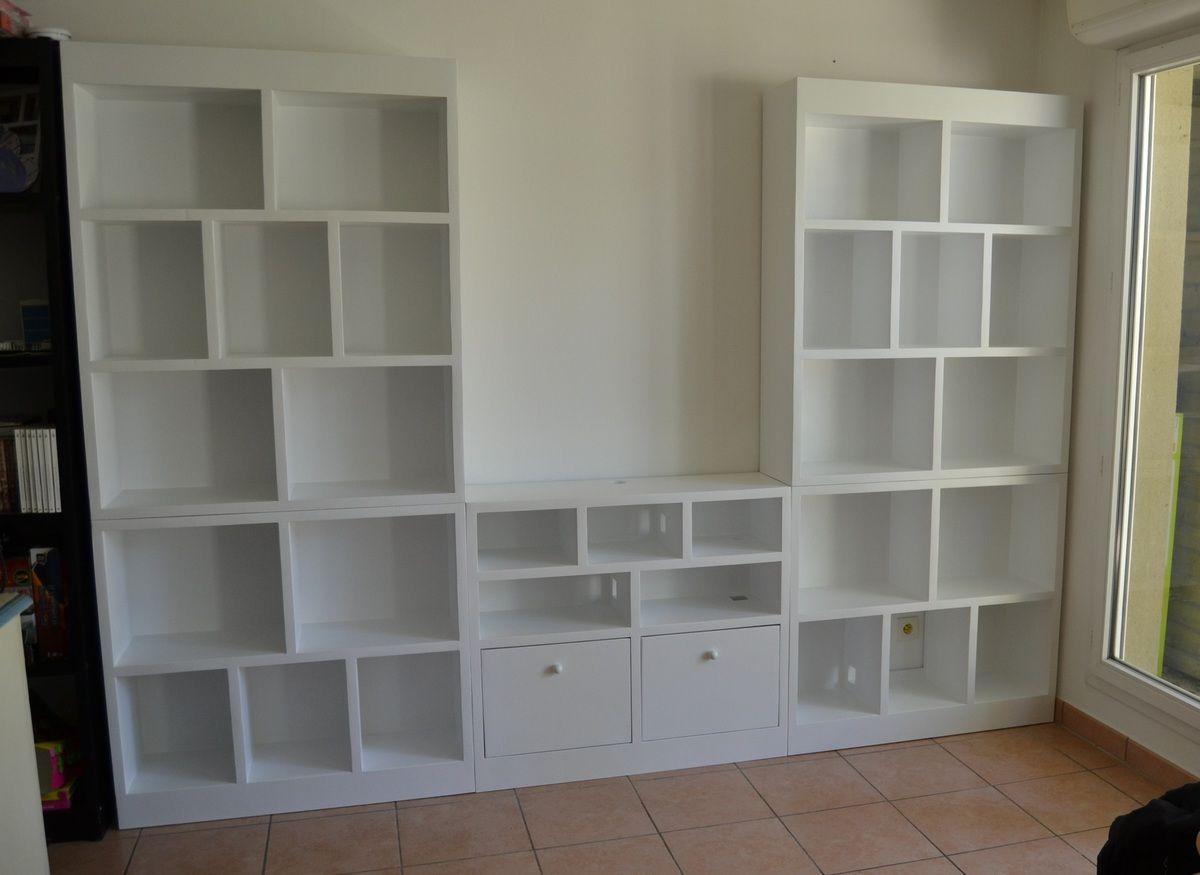 Biblioth Que Et Meuble Tv En Carton Sg Mobilier Carton Meubles  # Meuble Tv En Carton