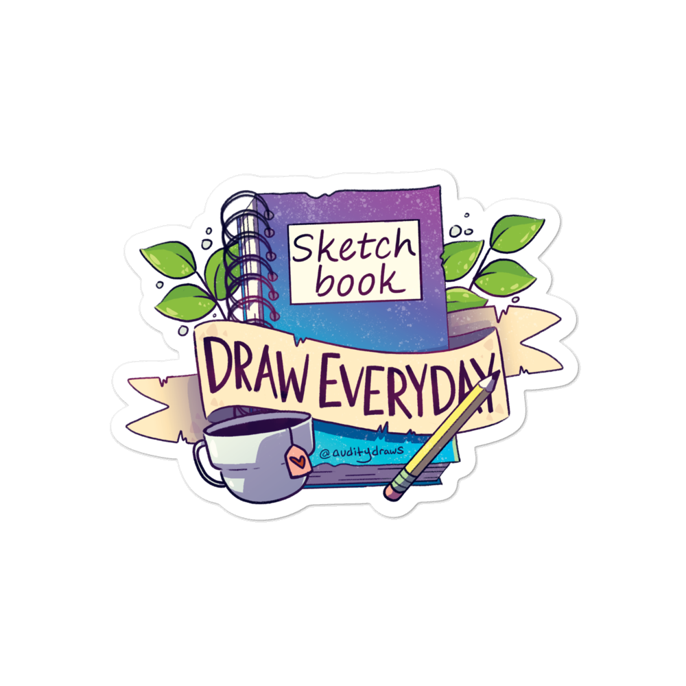 Sketchbook Draw Everyday Sticker In 2020 Sketchbook Drawing Sketch Book Sketchbook Drawings