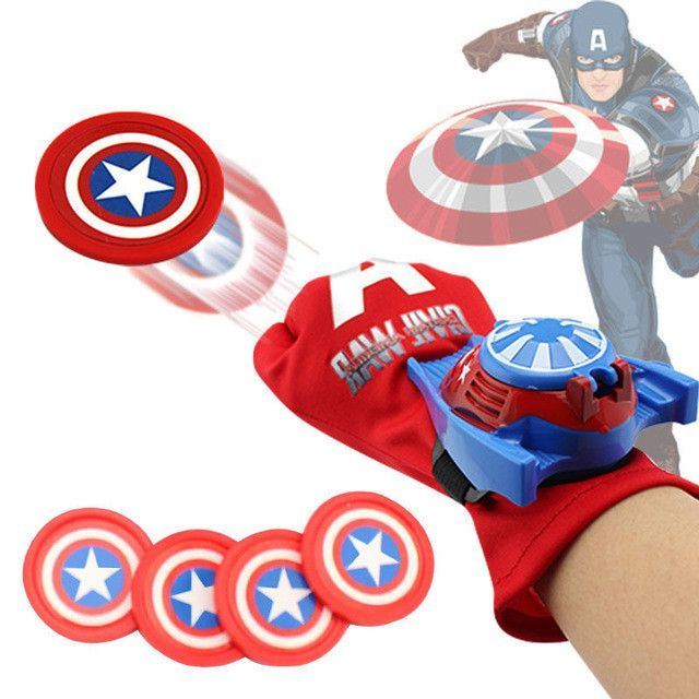 Spiderman Ironman Batman Kids Launcher Gloves Children Action Figure Toys boys