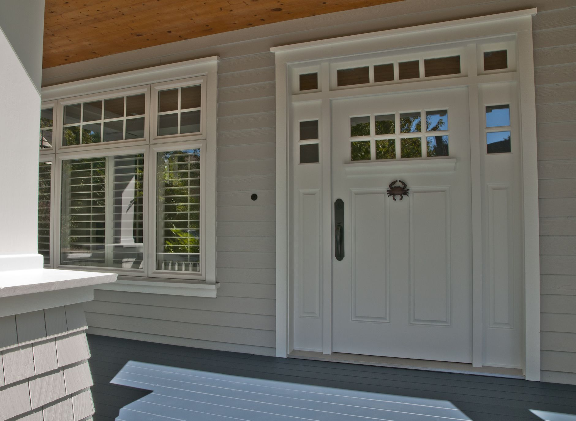 Exterior house colors for 2013 - Stonington Gray Exterior Navy Blue Porch Floors Best Exterior
