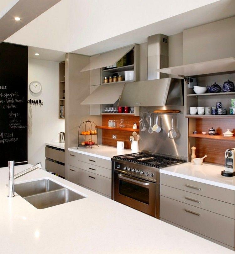 Küchenrückwand aus Holz statt Fliesenspiegel \u2013 20 Ideen und Tipps - fliesenspiegel in der küche