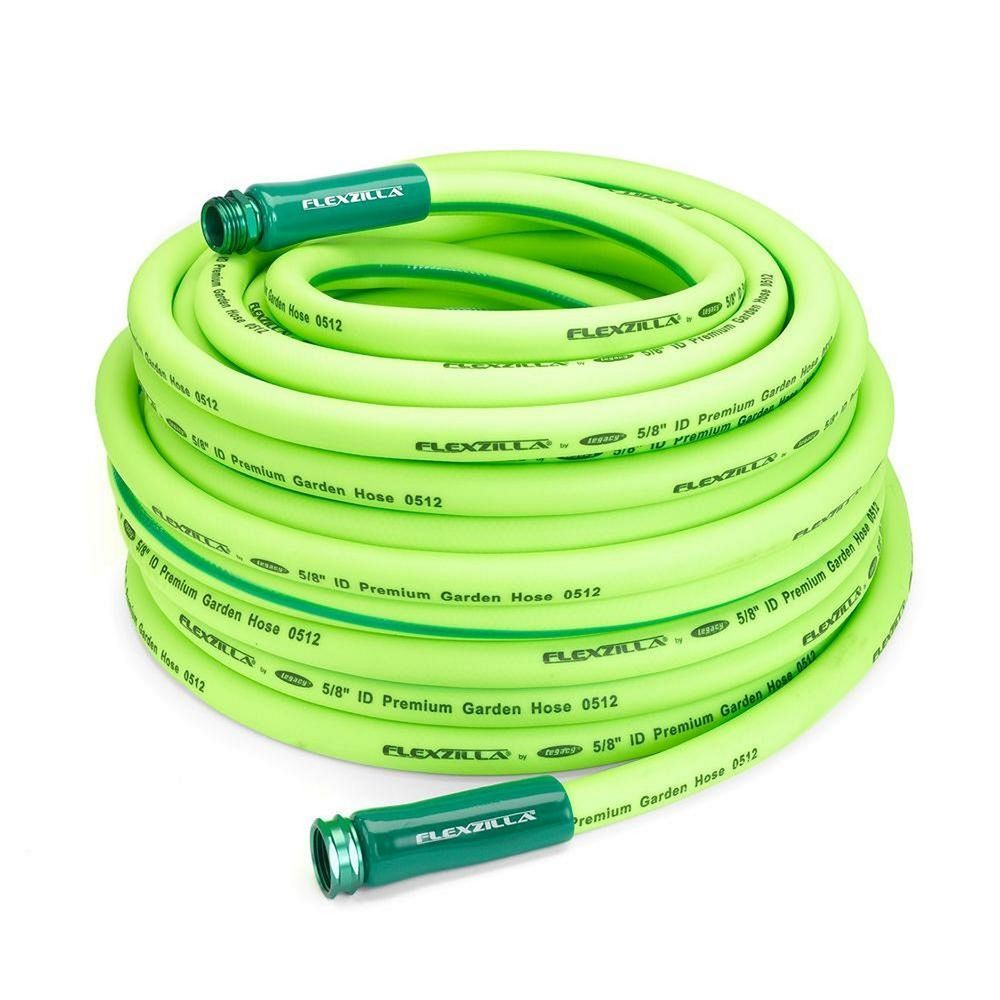 5 8 In X 100 Ft All Weather Flexzilla Green Garden Hose With 3 4 In Ends Legacy Garden Hose Hose Amazing Gardens