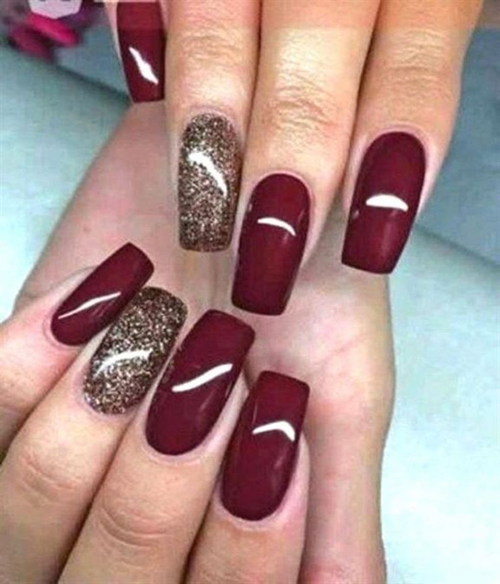 37 Popular Nail Colors Ideas This Fall Winter Nails Fall Nail Colors Autumn Nails Simple