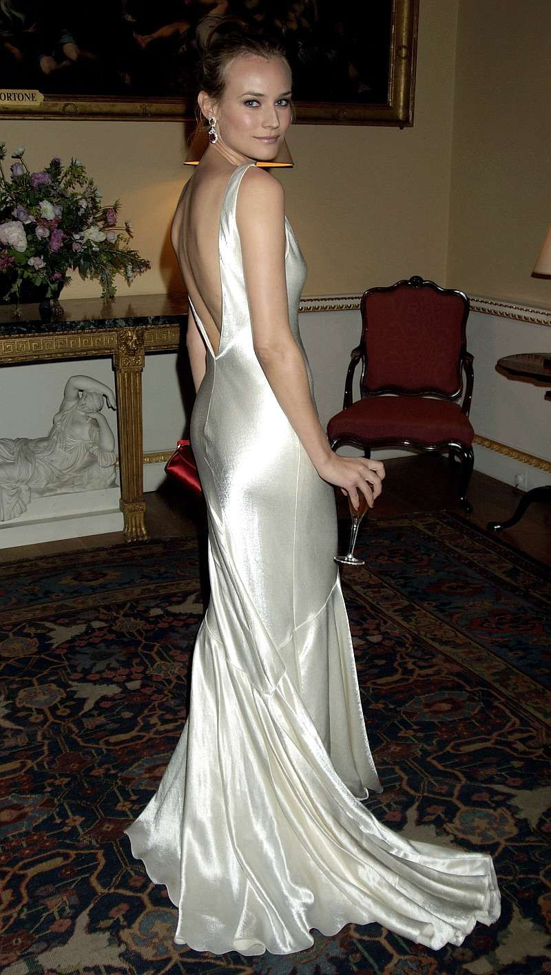 Would be a pretty wedding dress | Diane Kruger - Party to celebrate ...