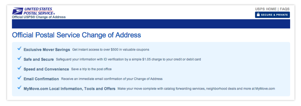 How To Get A USPS Change Of Address Change of address