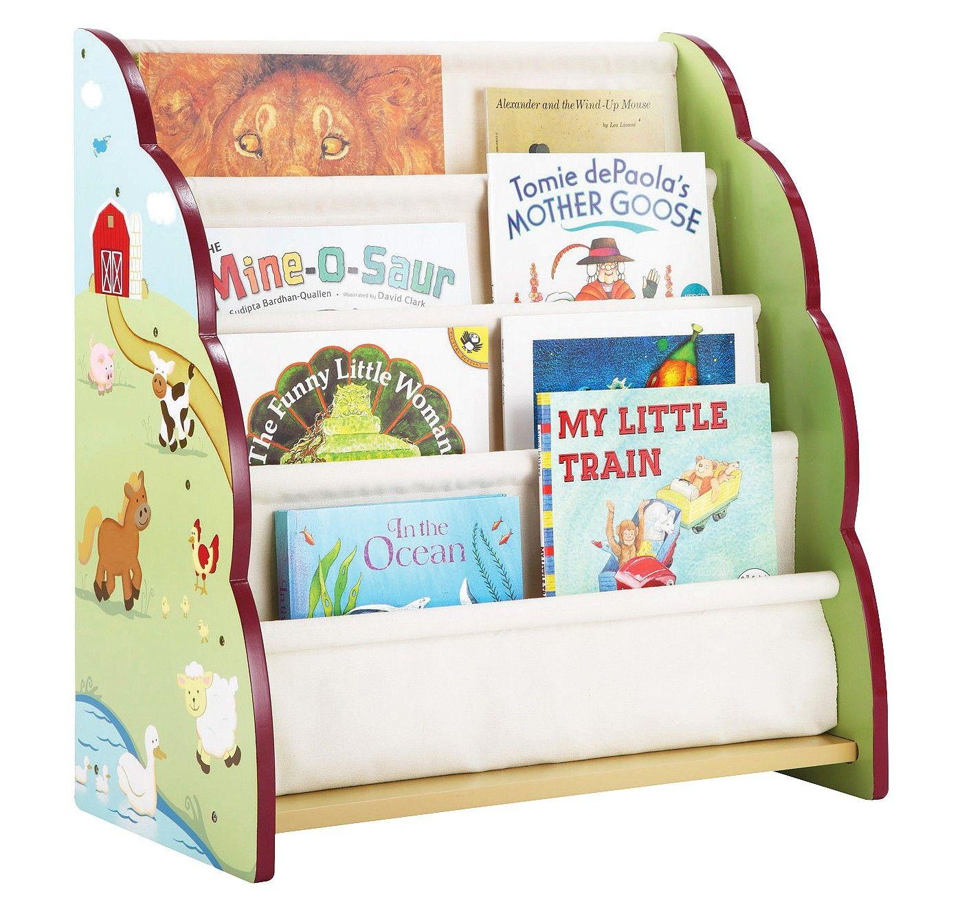 Guidecraft Farm Friends Book Display Image 2 Of 2 Kids Bookcase Kids Furniture Toys
