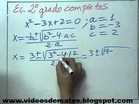 Como Explicar Ecuaciones De 2º Grado A 0 Http Www Youtube Com Watch V Cchgtwcceua Matematicas Ecuaciones Cuadraticas Ecuaciones
