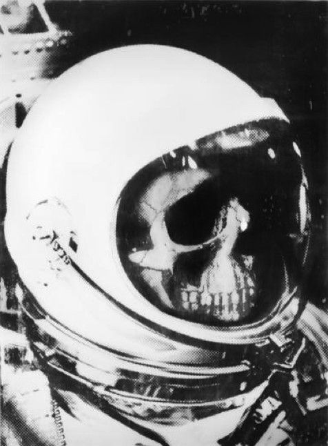 Image result for skeleton in space suit