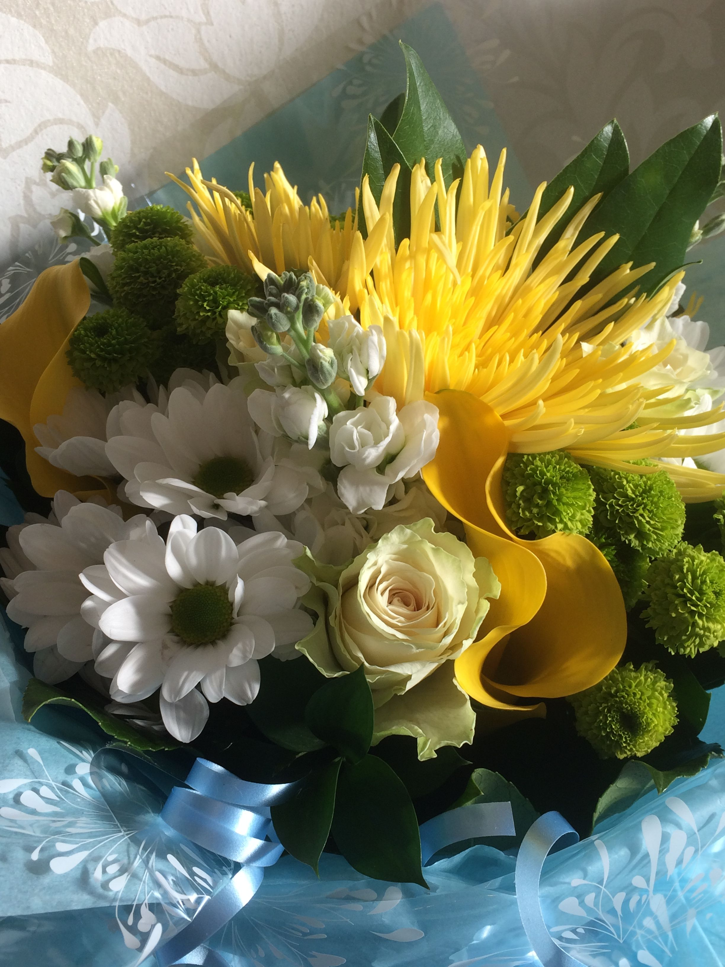 New baby boy gift bouquet of fresh flowers created by willow house willow house flowers aylesbury florist free same day delivery in aylesbury bucks local on line florist for next day local delivery flowers bouquets izmirmasajfo