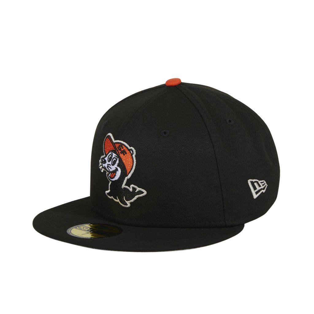 Exclusive New Era 59fifty Chamuco Seals Hat Black Orange Hat Club New Era 59fifty Orange Hats New Era