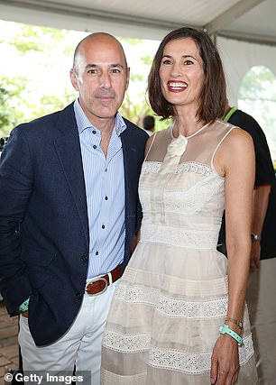 Matt Lauer's estranged wife Roque files divorce