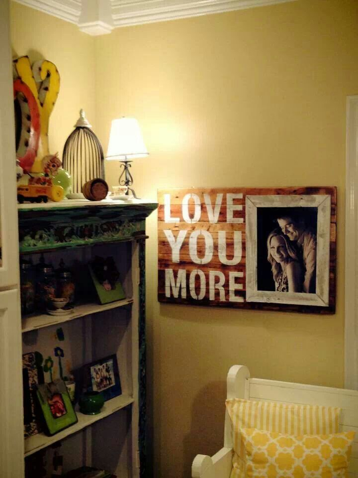 Barnwood frame cute idea to put a pic of me with each kid on in ...