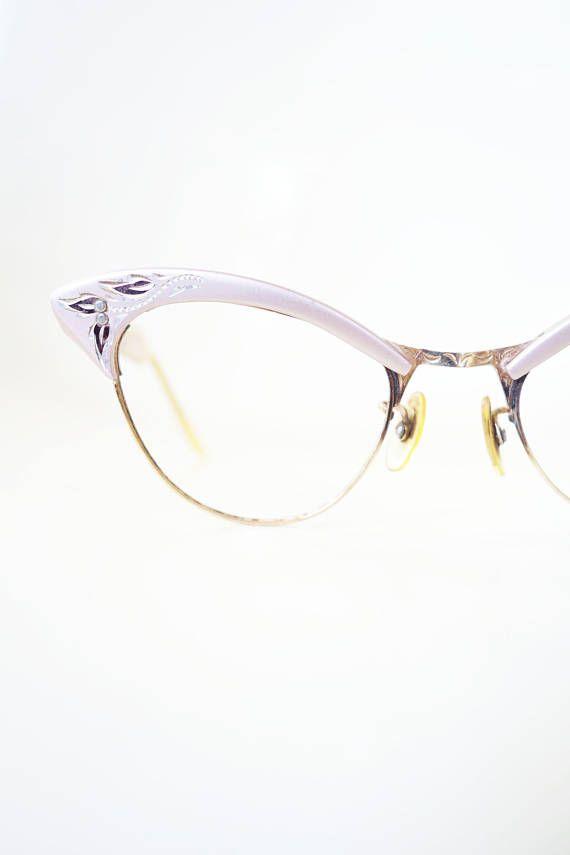 900ff5904f Vintage 1950s Cat Eye Glasses American Optical Pink Aluminum Shiny Metallic  Pin Up Sexy Cateye Glasses Eyeglasses Womens 50s Fifties Ladies