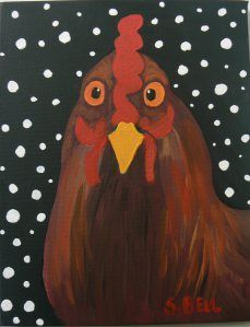 folk art furniture roosters - Google Search