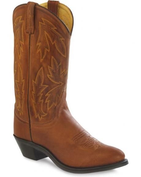 Old West Women's Tan Polanil Western Cowboy Boots - Round Toe ...