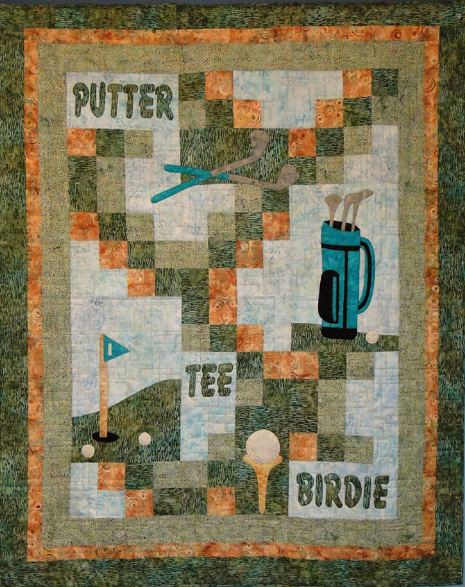 Gone Golfing Quilt Pattern | Manly Quilts | Pinterest | Patterns ... : golf quilts - Adamdwight.com