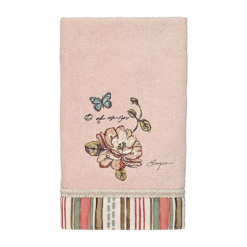 Avanti Butterfly Garden Ii Embroidered Floral Bath Towel In 2019