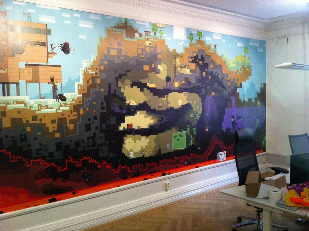 More giant mural walls this one from mojang guys who for Create your own mural wallpaper