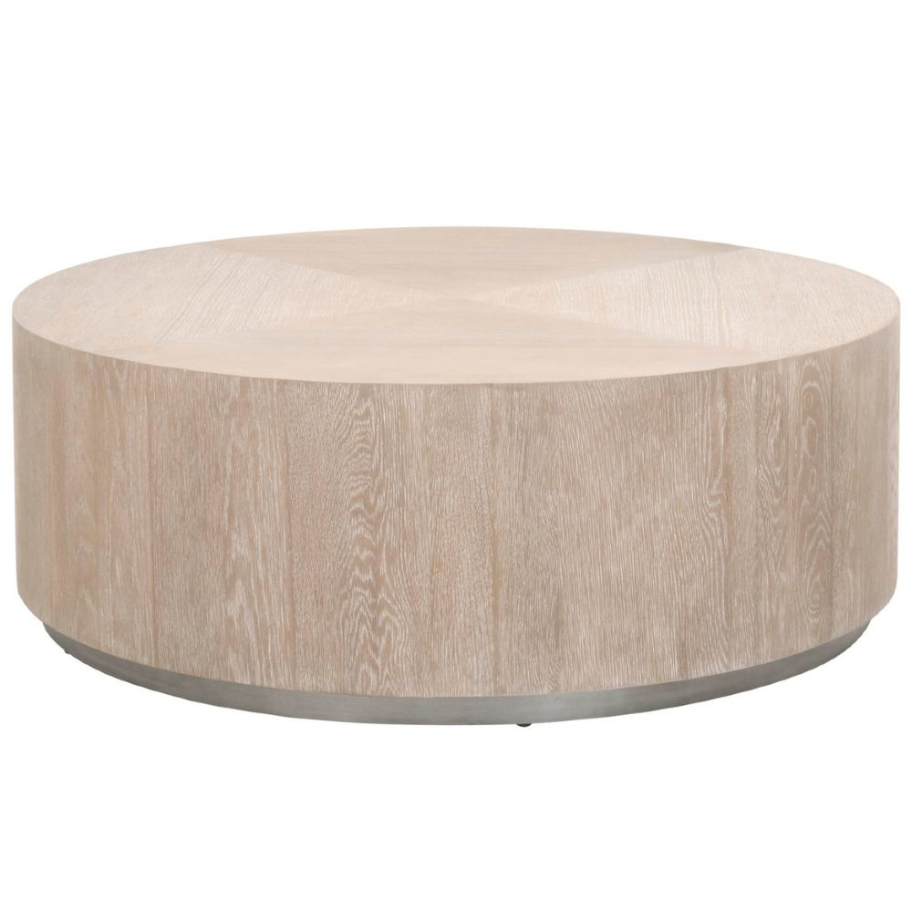 Lionel Coastal Beach Natural Grey Oak Wood Large Round Drum Coffee Table In 2021 Drum Coffee Table Round Drum Coffee Table Large Coffee Tables [ 1000 x 1000 Pixel ]