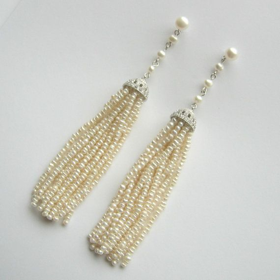 Freshwater+Pearl+and+Sterling+Silver+Tassel+by+LoveHonorUpcycle,+$225.00