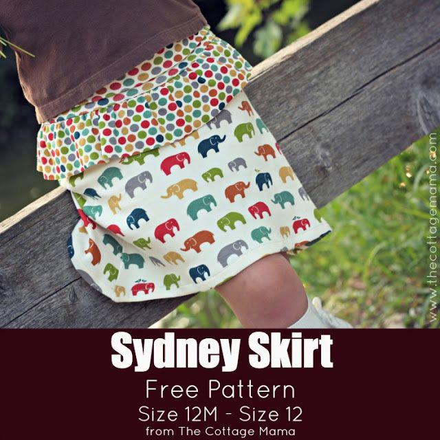 The Sydney Skirt FREE PATTERN | Nähideen ❤ für Kids | Pinterest ...