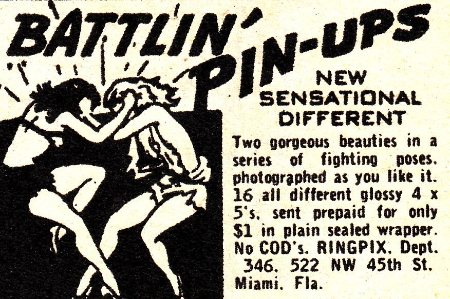 Vintage Sleaze Catfight The Fetish With No Name Women Wrestlers