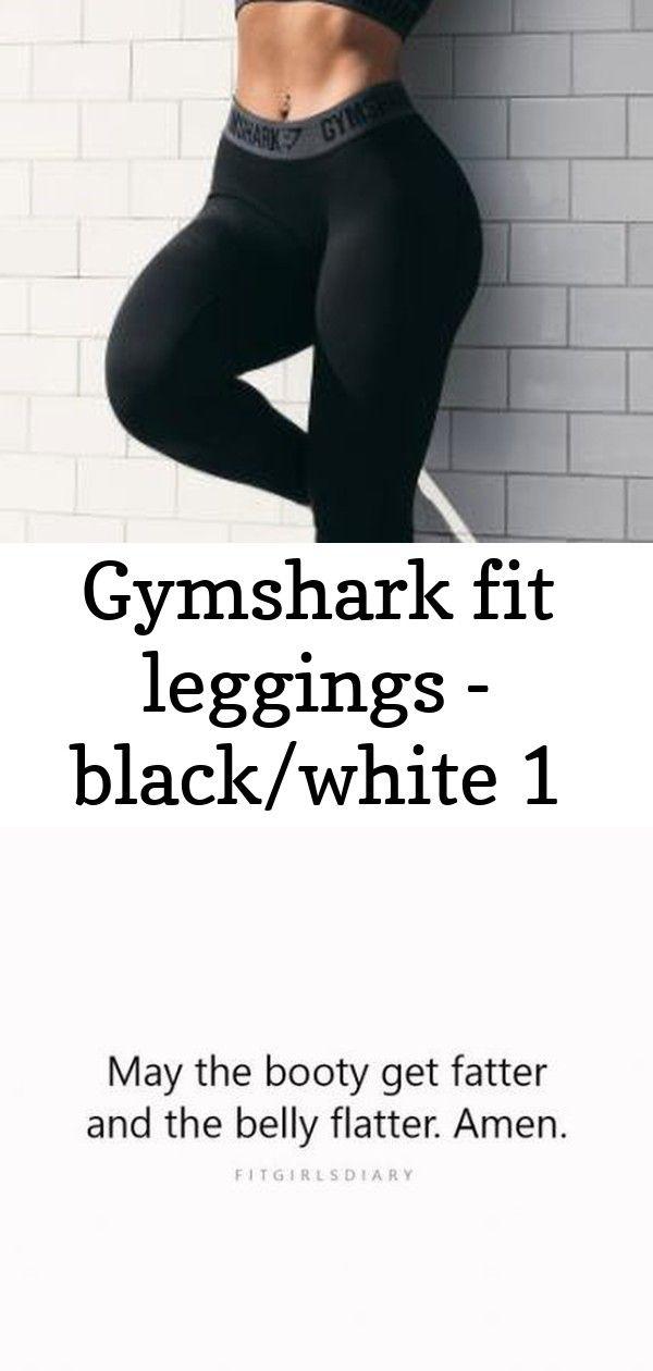 Gymshark fit leggings - black/white 1