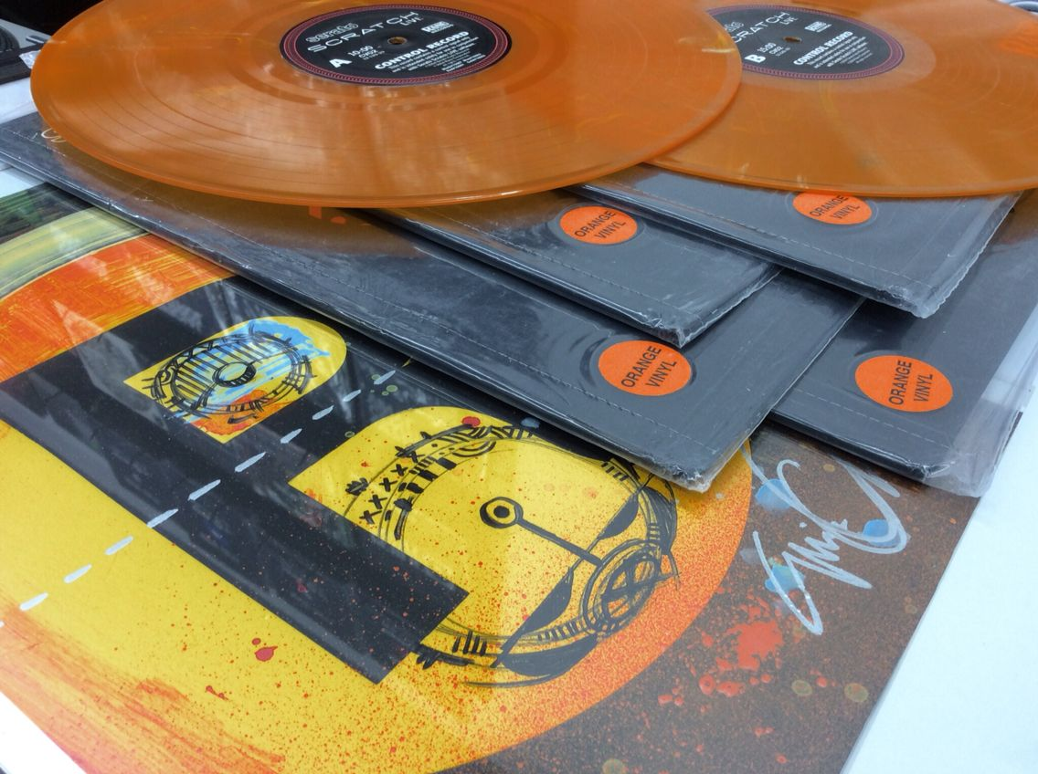 Happy Halloween 2014 Custom Eric Orr Subway Artwork And 6 Rane Serato Promo Orange Of Control Vinyl 2 Opened And 4 Sealed Vinyl Halloween 2014 Orange
