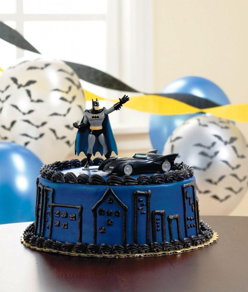 Image of Batman Birthday Cake Walmart Superhero Birthday