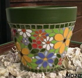 Mosaic Pots | This Terracotta Pot Is 26cm (10 Inches) Tall. The Ceramic