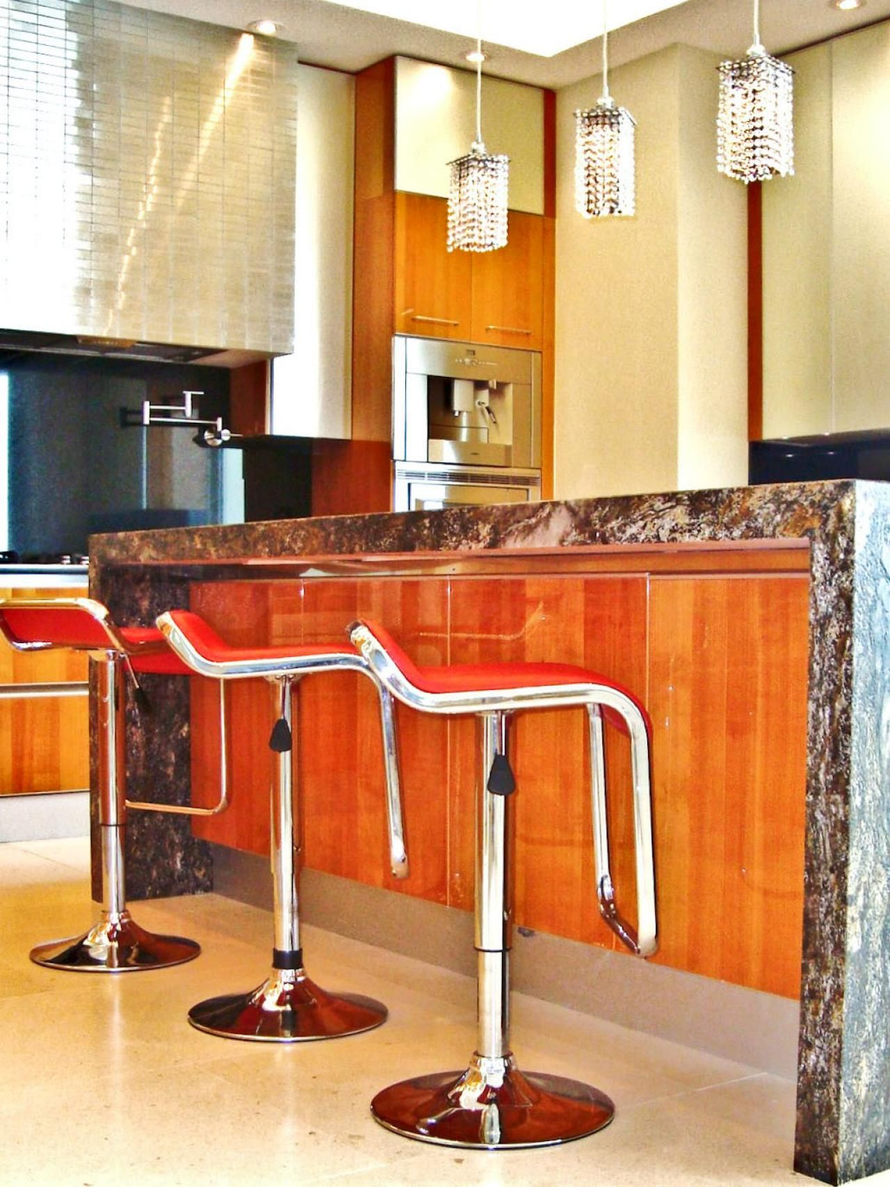 Modern Kitchen With Red Bar Stools Stools For Kitchen Island Modern Bar Stools Kitchen Bar Table
