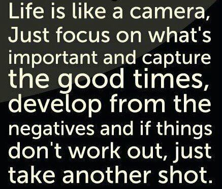 Life is like a camera. :) - Click image to find more Quotes Pinterest pins