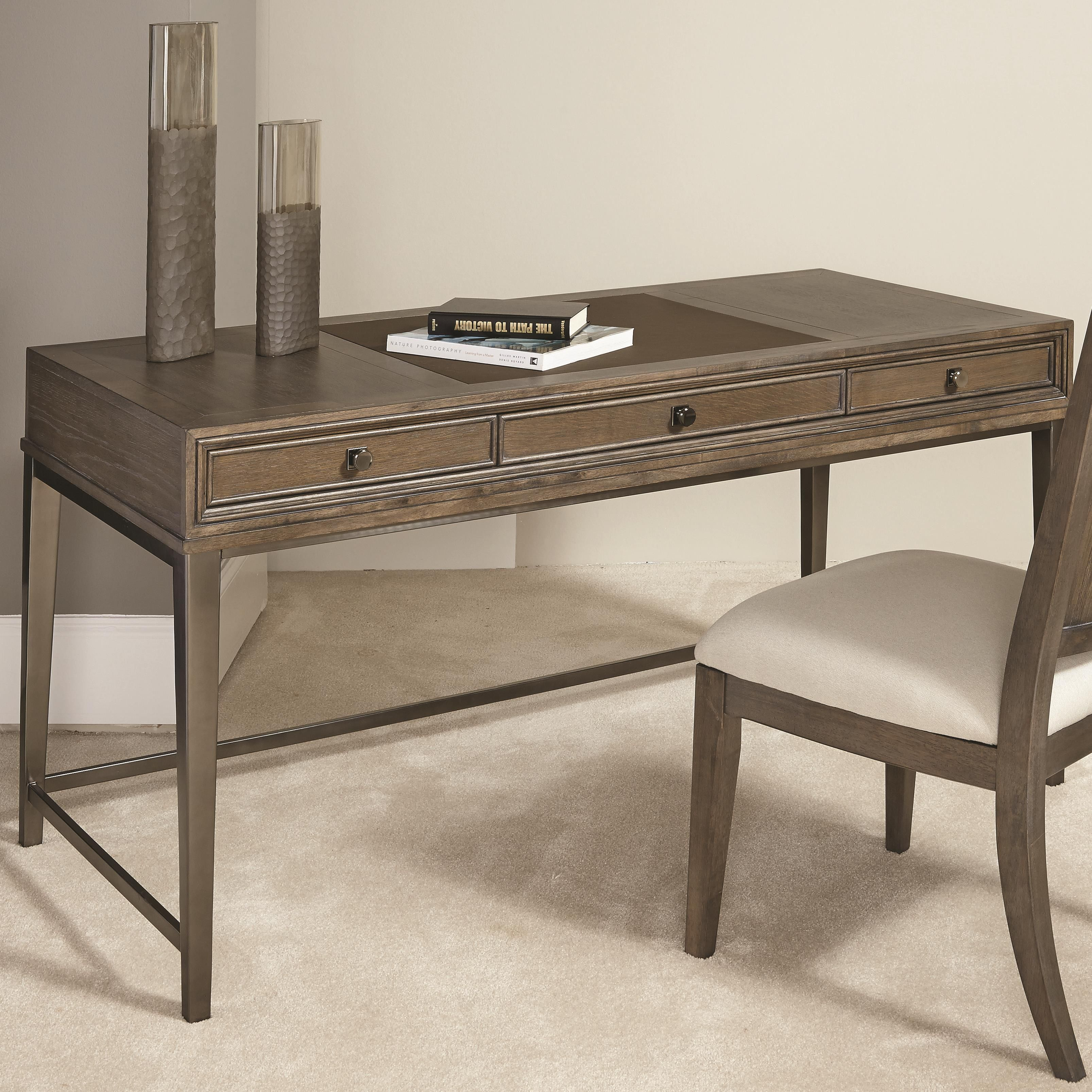 Park Studio Contemporary Writing Desk With 3 Drawers And