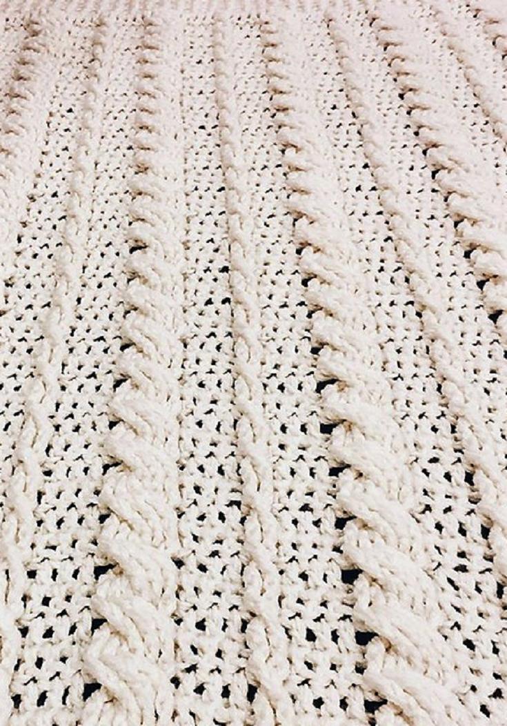 Free Pattern Fabulous Crochet Cabled Wedding Blanket Blankets