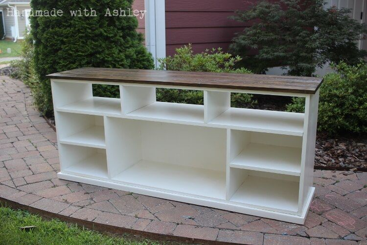 diy media console do it yourself home projects from ana white woodworking pinterest. Black Bedroom Furniture Sets. Home Design Ideas