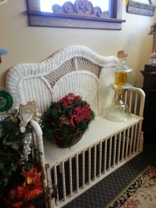 I just picked up an old wicker headboard in mint condition ...