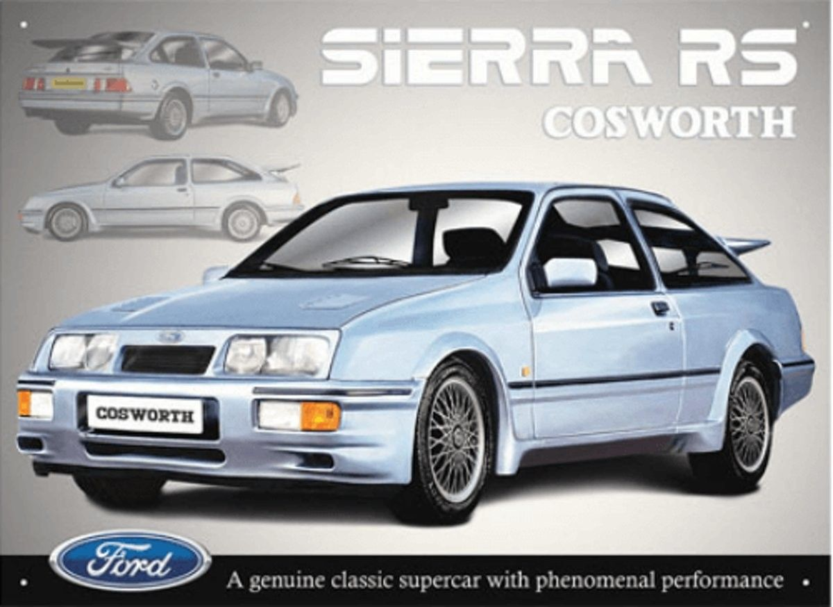 Ford Sierra RS Cosworth  Wall Art Retro Print Vintage Classic Classic Car