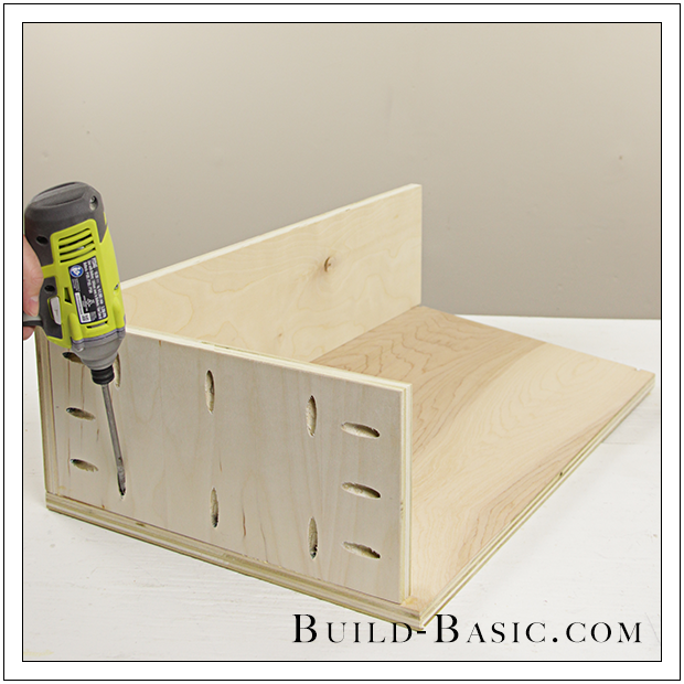 The Build Basic Custom Closet System   Tilt Out Hamper   Step 11