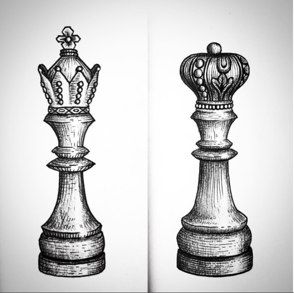 King Chest Chess Piece Tattoo Chess Queen Pieces Tattoo