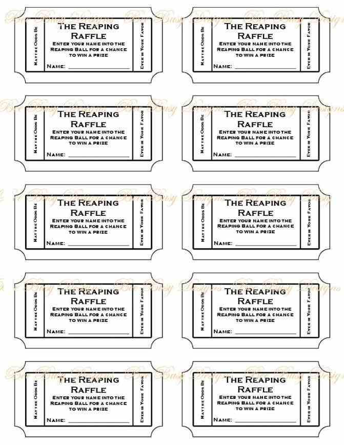 Free Printable Raffle Ticket Template printable numbered raffle - printable ticket template free