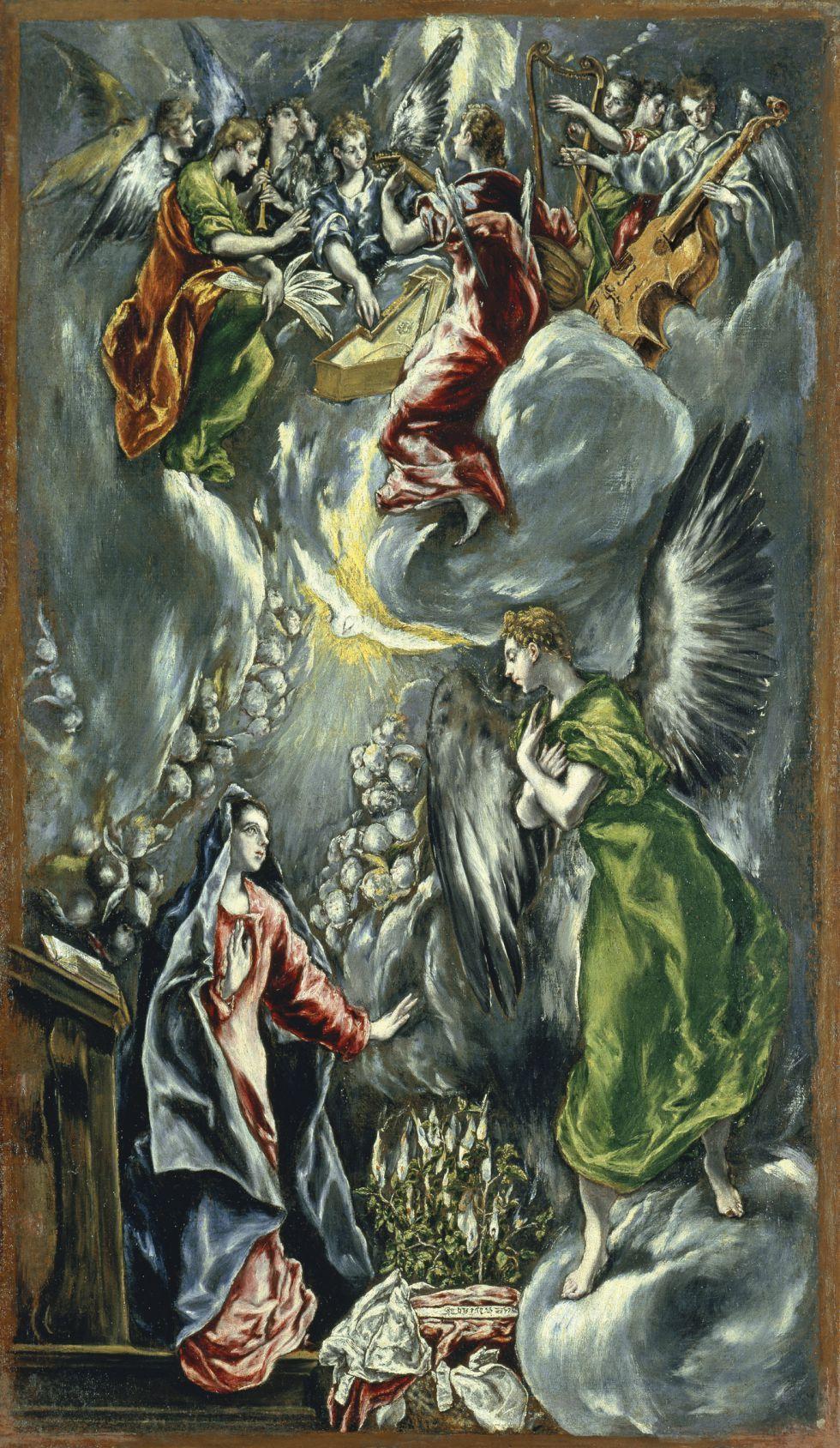 'La Anunciación' (c. 1596), de El Greco