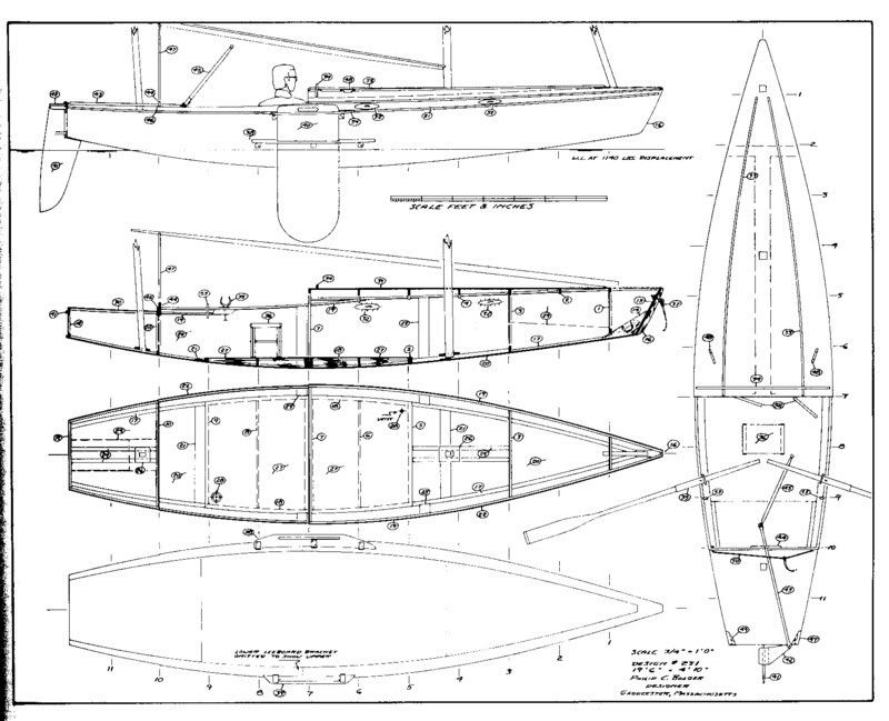Sailing, rowing cruiser plans? Otter, sailing rowing dinghy cruiser | Bolger Boats in 2019 ...