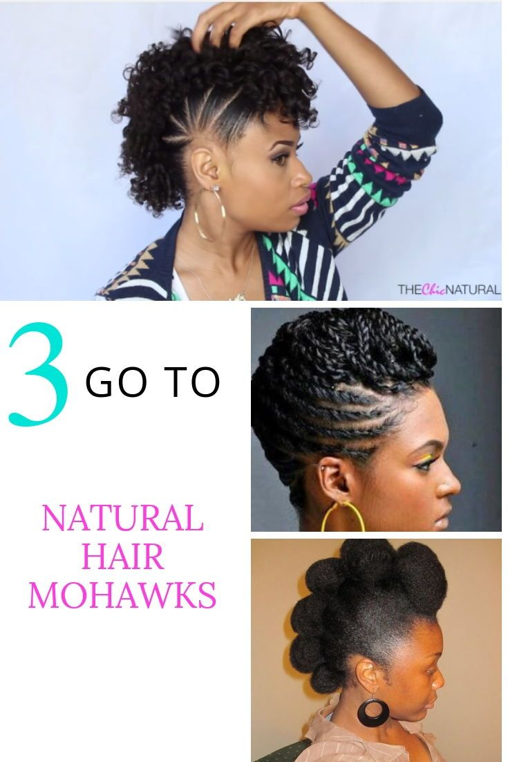 3 Very Simple & Easy Natural Hair Mohawks Anyone Can Do | Natural hair styles, Natural hair ...
