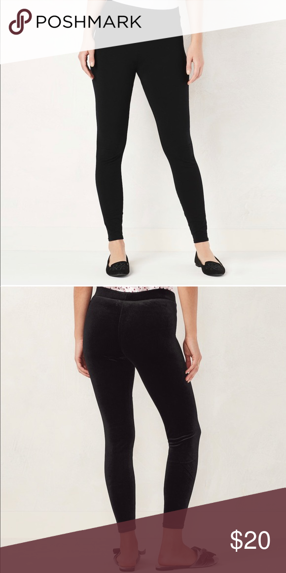 a01a01582b4668 LC Lauren Conrad Mid Rise Leggings NWT LC Lauren Conrad mid rise black  leggings. Super soft with elastic waist. 95% Cotton and 5% Spandex.